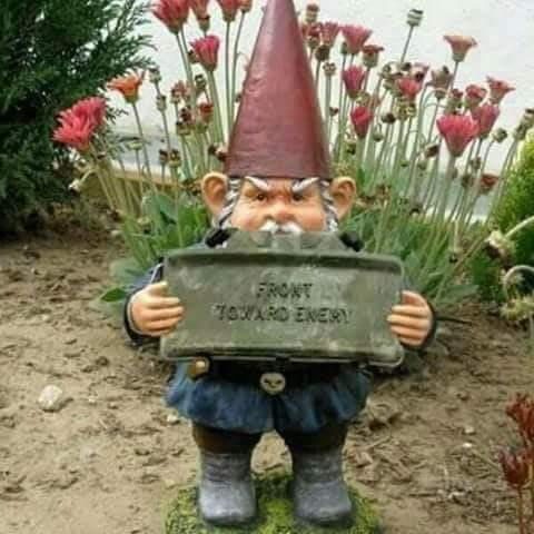 Claymore Garden Gnome