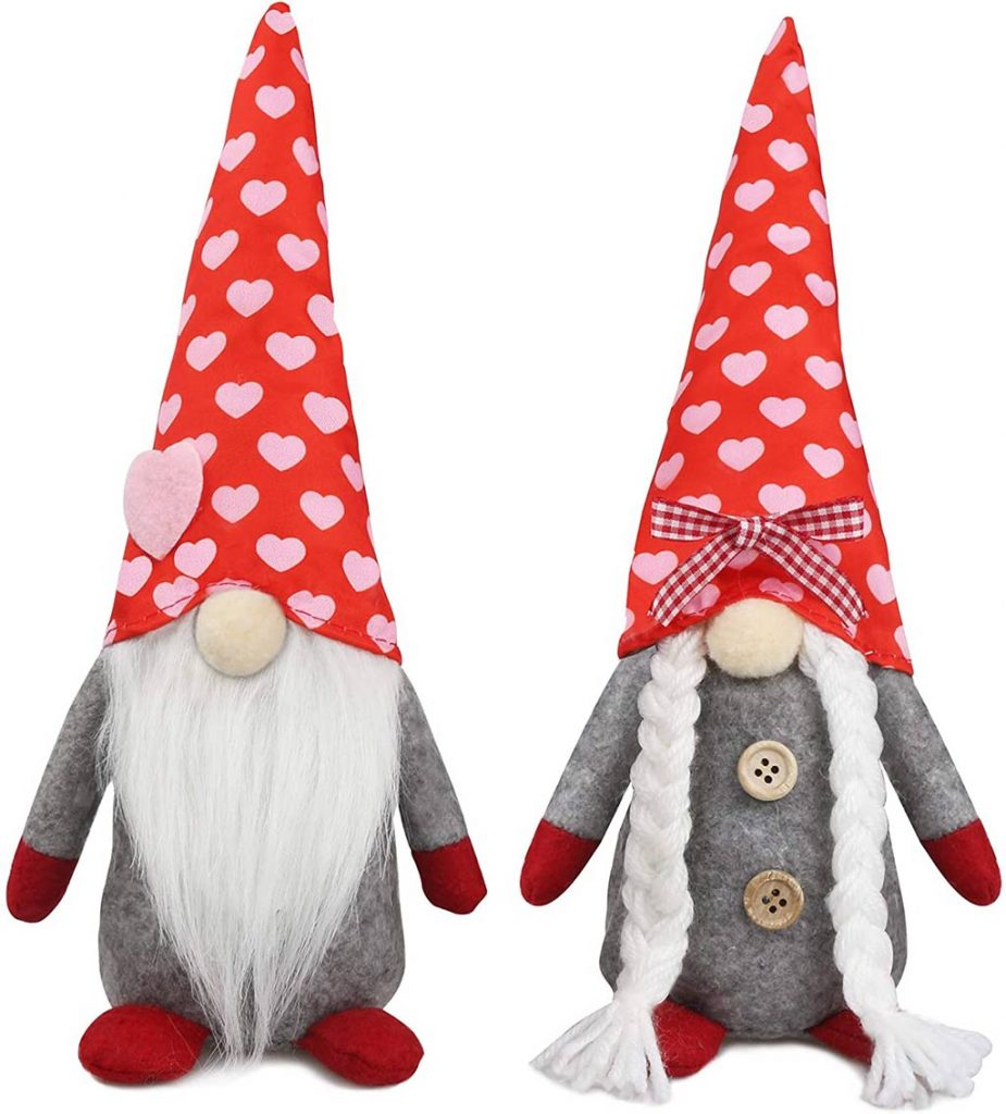 Plush Decorations Valentines Day Gnomes
